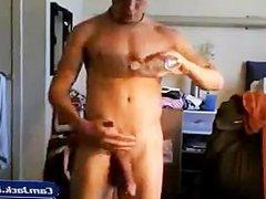 Amateur Webcam Hunk gonzo Creamy Wanking