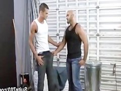 Hairy boss gives smooth tube jock galore a bonus
