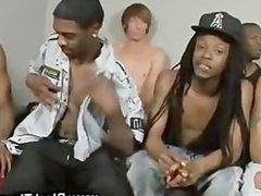 White boy blows gonzo black gangste cock