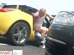 Blond dude gets ass tube fucked galore in car part6