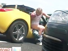 Blond dude gets ass anal fucked fuck in car part3