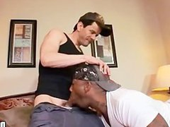 Interracial gay porn studs sucking each other