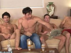 Super hot studs in anal gay fuck foursome porn part3