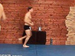 Mikhail Nesersev vs Anton anal Kretek fuck Nude Male Submission Wrestling