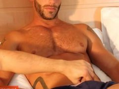 French sport porn guy get wanked his hub huge cock