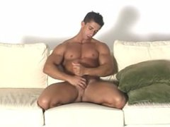 Smooth muscular guy jerks anal off fuck and plays with his hole