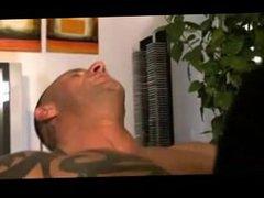 Tattooed Muscle Daddy Fucks anal House fuck Boy
