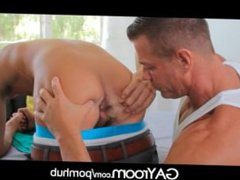 GayRoom Pretty boy gonzo gets oiled up xxx and fucked by manly man