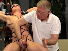 Roped Up And gonzo Wanked Off