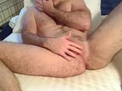 daddy fingers his gonzo ass, strokes and xxx eats his load