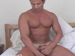 Muscular Straight Guy Rock anal Masturbating