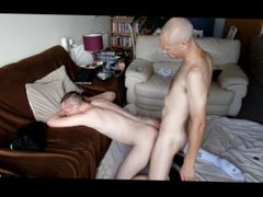 Nortybrum gets ploughed by anal bf, fuck filmed by young lad as he watched