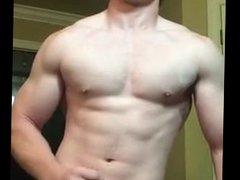 Ginger Muscle Jock gonzo Jerks Off 2