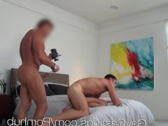 HD GayCastings porn - Hot straight guy hub with huge dick auditions for gay porn