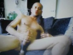 huge balls in cock tube ring galore latin dude jerking big cock