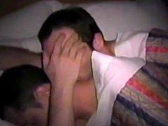 Amateur dudes cuddling gonzo and sucking