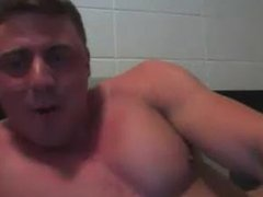 Canadian Military BodyBuilder Jerks anal Off fuck & shows Off