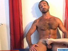 Gym male gets wanked tube his galore big cock by us!