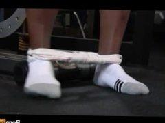 blowjob at the gym