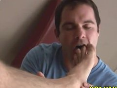 Feet sucking licking toes anal muscles fuck hairy jerking Kincade huge cock