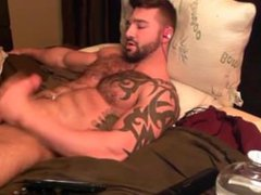Muscle Hunk Jerks off anal and fuck cums