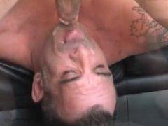 Beefy guy gagging - anal 11 fuck min..GAG THE FAG