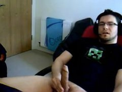 Big Uncut Cock gonzo Webcam Cum