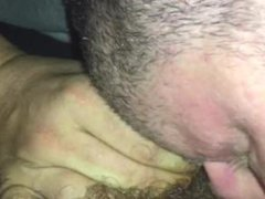 Deep throating Latino big anal dick