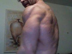 German beast porn flexing