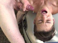cum eating porn twink