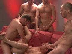 Troy Collins porn gets a facial at hub a gay orgy