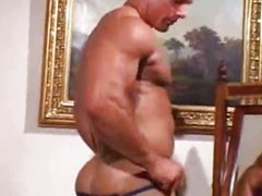 German muscle porn hunk solo