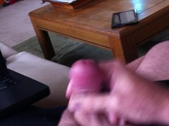 Stroking and cumming a tube thick galore load