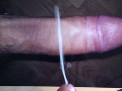 Cumming all over big tube cock