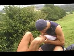 French Amateur Fuck gonzo Session In The xxx Outdoors FlipFuck