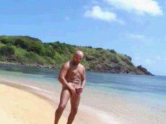 bald bear wanks at anal the fuck beach