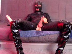 Huge sex 5 cm anal xnxx dildo fuck in catsuit thigh boots + cumshot