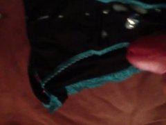 Cumming in black panties