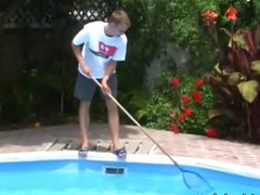 Rich gay youngster spoils tube a galore yummy twinky pool guy