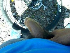 pre-cum sex jerk-off on my xnxx mountain bike
