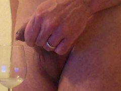 foreskin - shot soft tube cock galore in wine glass - drinking