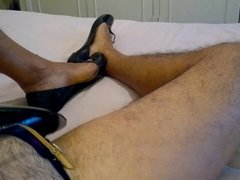 Cum in porn my wife's ballet flats hub with my femenine shoes on!