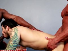 Gaysex black porn jocks spitroast white guy