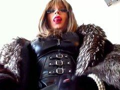 Transvestite sex Mistress in fur xnxx cumming