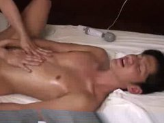 Sensual massage with gonzo asian guy