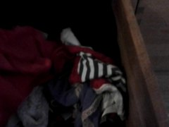 cumming in my gonzo wifes pantie drawer