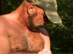Daddy sex bear's playing outside