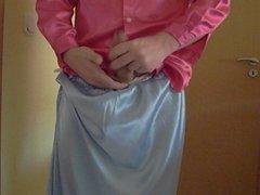 satin skirt satin gonzo blouse