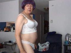 Gigi sex modeling purple wig xnxx and corsette bra