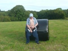 Wanking And Ejaculating gonzo In A Field